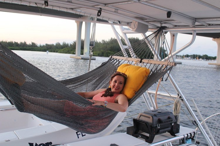 Sailing the Moonraker in Vero Beach while on a press trip courtesy of Indian River tourism.