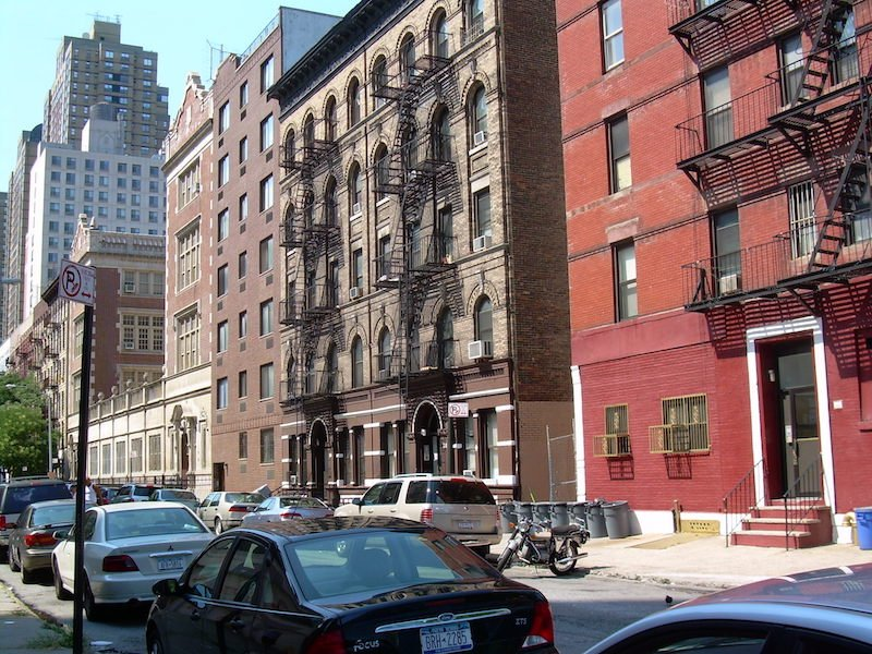 A street shot of the Yorkville neighborhood where our first apartment was.