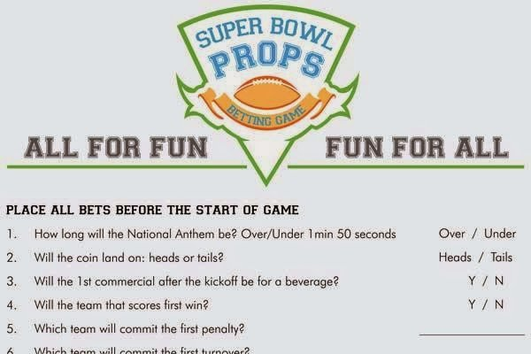 Soft image with regard to printable prop bets super bowl