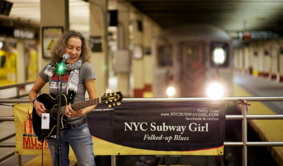 Subway busker, Cathy Grier, music in the subway
