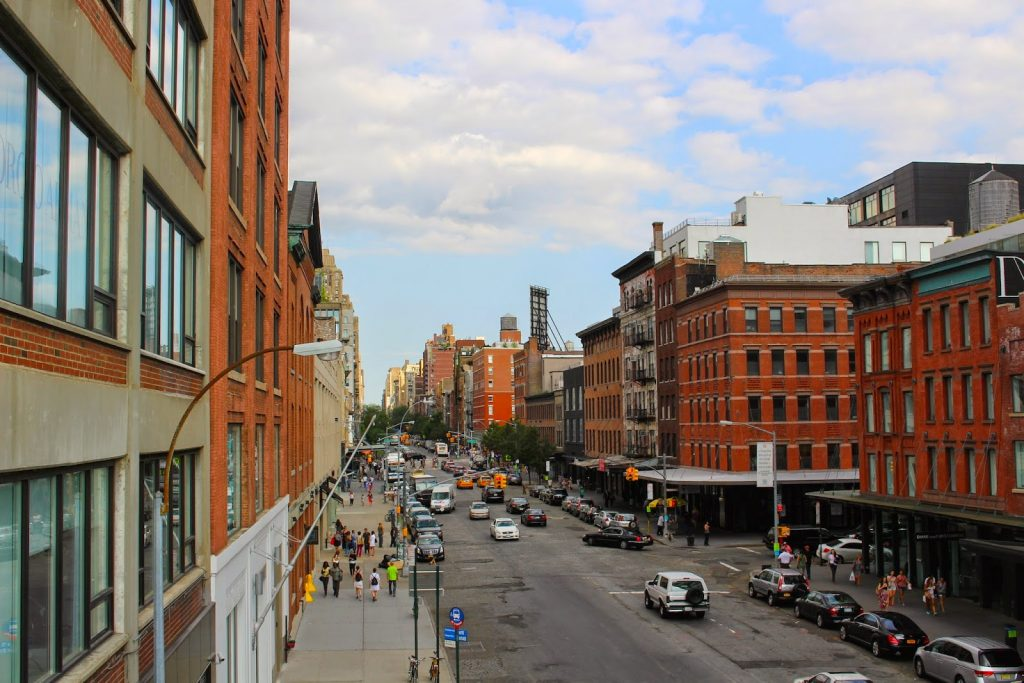 view from the high line in nyc
