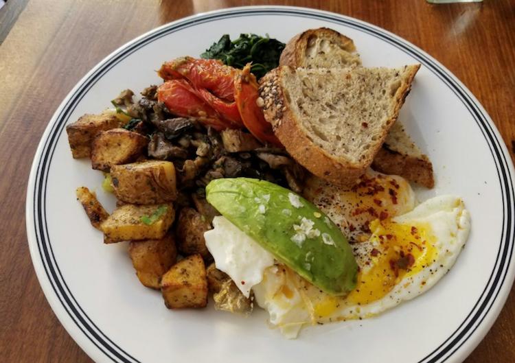 Vegetarian Breakfast at Coco & Cru