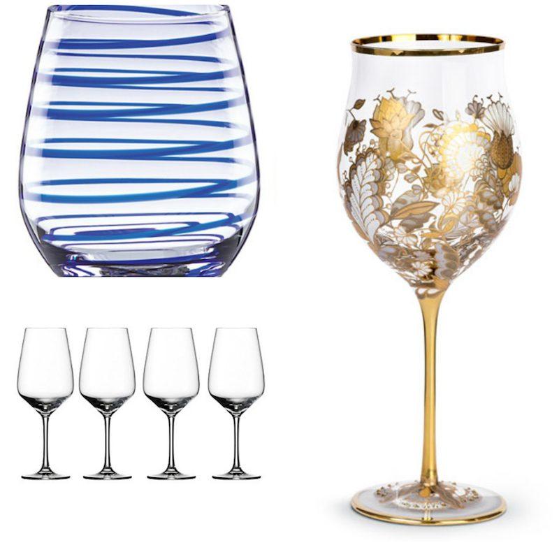 stylish wine glasses