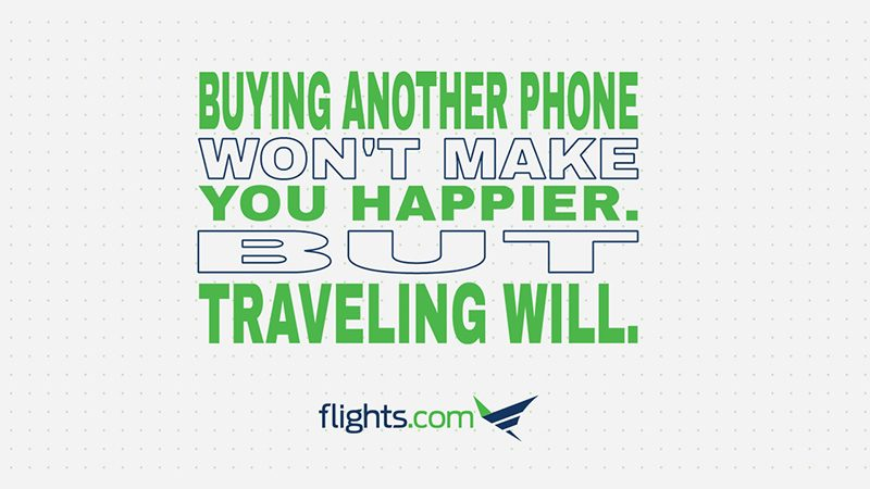 Taking a trip is better than buying things.
