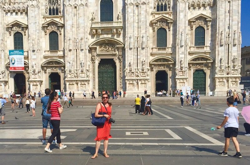 Solo travel to Milan.